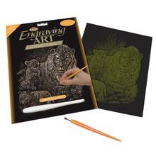 Royal & Langnickel Engraving Art Gold Lion & Cubs