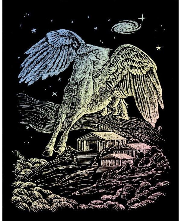 Engraving Art Holographic Pegasus