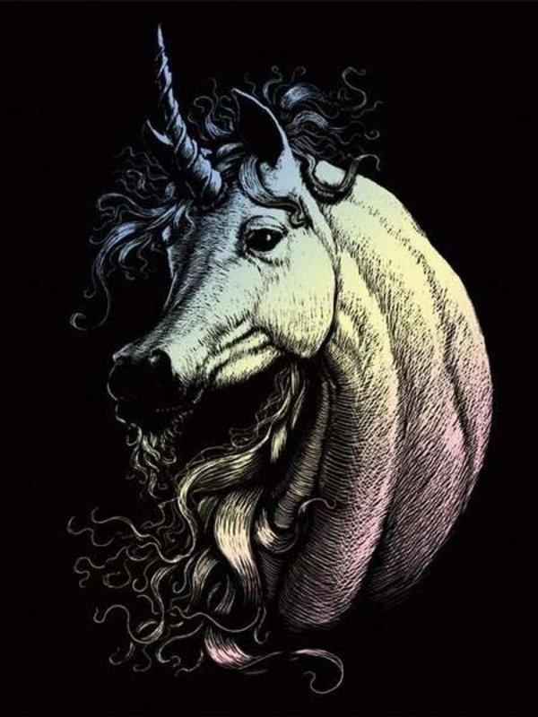 Engraving Art Holographic Proud Unicorn