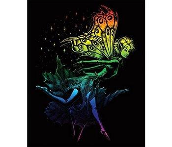 Engraving Art Rainbow Dancing Fairy