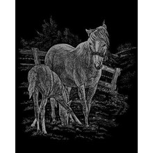 Royal & Langnickel Engraving Art Silver Foil Mare & Foal