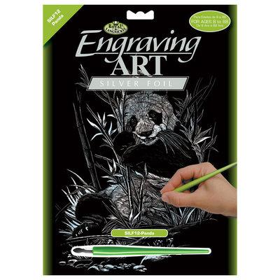 Engraving Art Silver Foil Panda