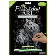 Royal & Langnickel Engraving Art Silver Foil Wolves in Trees
