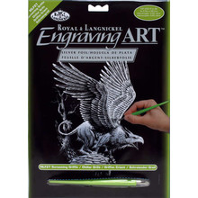Royal & Langnickel Engraving Art Silver Screaming Griffin