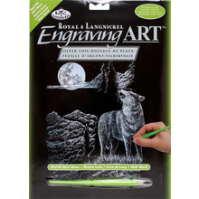 Royal & Langnickel Engraving Art Silver Wolf Moon