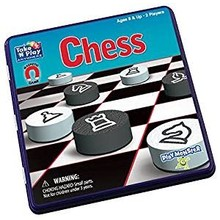 Playmonster Patch Magnetic Tin Game: Chess