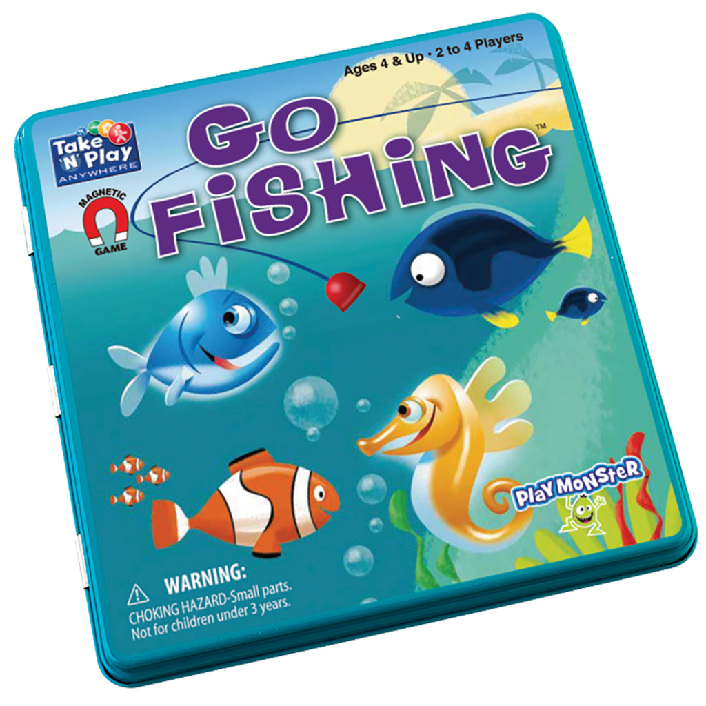 Magnetic Tin Game: Go Fishing