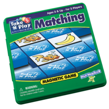 Playmonster Patch Magnetic Tin Game: Matching
