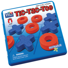 Playmonster Patch Magnetic Tin Game: Tic Tac Toe