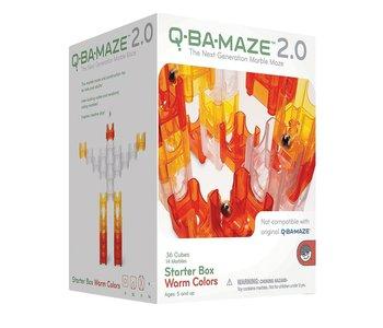 Q-Ba-Maze 2.0 Marble Run Warm Colours