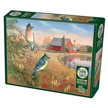 Cobble Hill Puzzles Cobble Hill  Puzzle 1000pc Cedar Waxwings