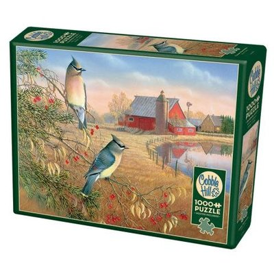 Cobble Hill Puzzles Cobble Hill  Puzzle 1000pc Cedar Waxwings