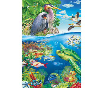 Cobble Hill Floor Puzzle 48pc Air And Sea