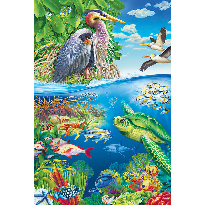 Cobble Hill Puzzles Cobble Hill Floor Puzzle 48pc Air And Sea