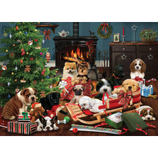 Cobble Hill Puzzles 500pc Christmas Puppies