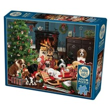 Cobble Hill Puzzles Cobble Hill Puzzle 500pc Christmas Puppies