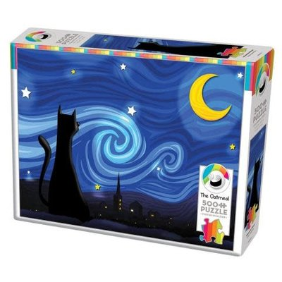 Cobble Hill Puzzles Cobble Hill Puzzle 500pc Mrowwy Night
