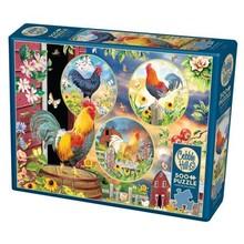 Cobble Hill Puzzles Cobble Hill Puzzle 500pc Rooster Magic