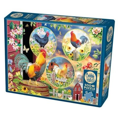 Cobble Hill Puzzles Cobble Hill Puzzle 500pc Rooster Magic