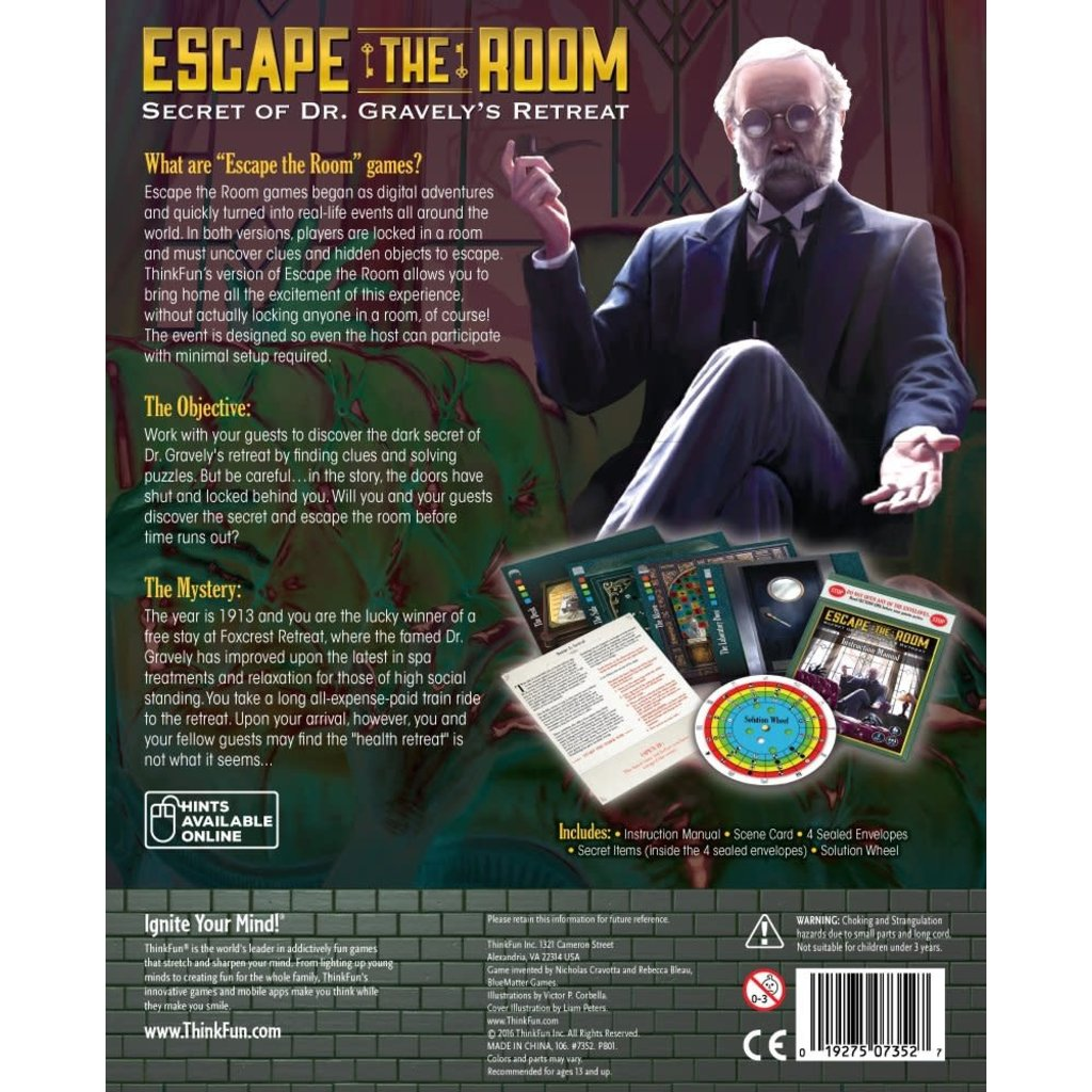 Thinkfun Game Escape the Room Gravely's Retreat