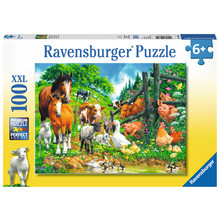 Ravensburger Ravensburger Puzzle 100pc Animals Get Together