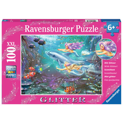 Ravensburger Ravensburger Puzzle 100pc Glitter Little Mermaids