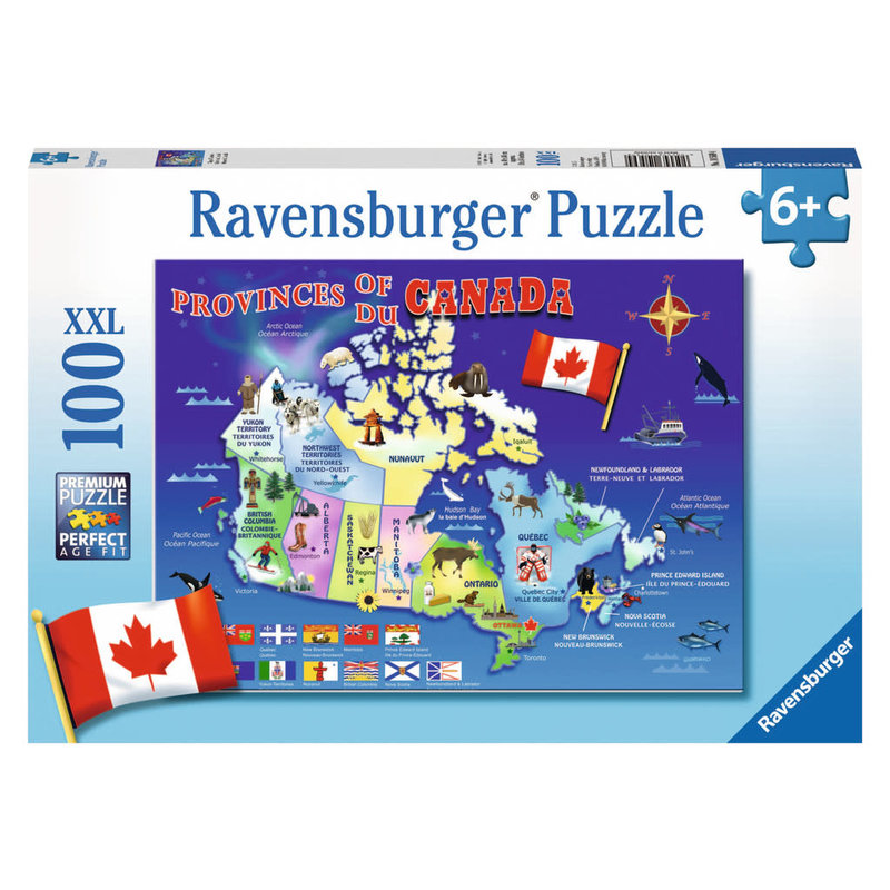 Ravensburger Ravensburger Puzzle 100pc Map of Canada