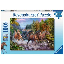Ravensburger Ravensburger Puzzle 100pc Rushing River Horses