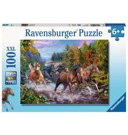 Ravensburger Ravensburger Puzzle 100pc Rushing River Horses