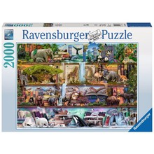 Ravensburger Ravensburger Puzzle 2000pc Wild Kingdom Shelves