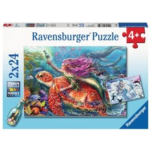 Ravensburger Ravensburger Puzzle 2x24pc Mermaid Adventures