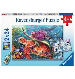 Ravensburger Ravensburger Puzzle 2x24pc Mermaid Adventures
