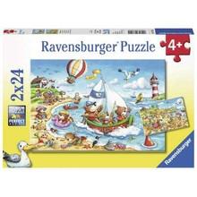 Ravensburger Ravensburger Puzzle 2x24pc Vacation at Sea