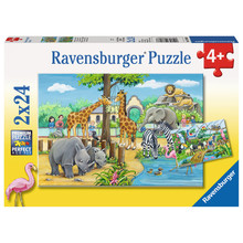 Ravensburger Ravensburger Puzzle 2x24pc Welcome to the Zoo