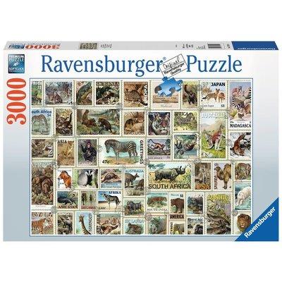Ravensburger Ravensburger Puzzle 3000pc Animal Stamps