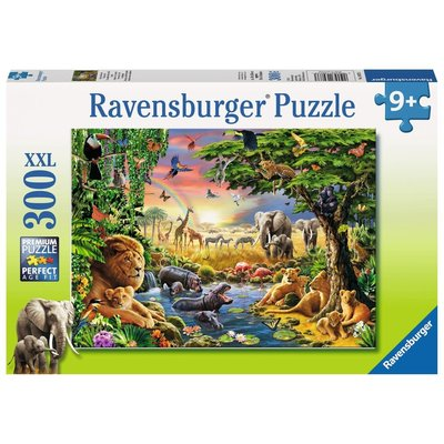 Ravensburger Ravensburger Puzzle 300pc Evening at the Waterhole