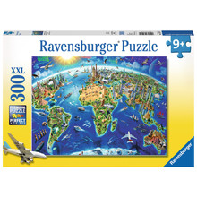 Ravensburger Ravensburger Puzzle 300pc World Landmarks Map