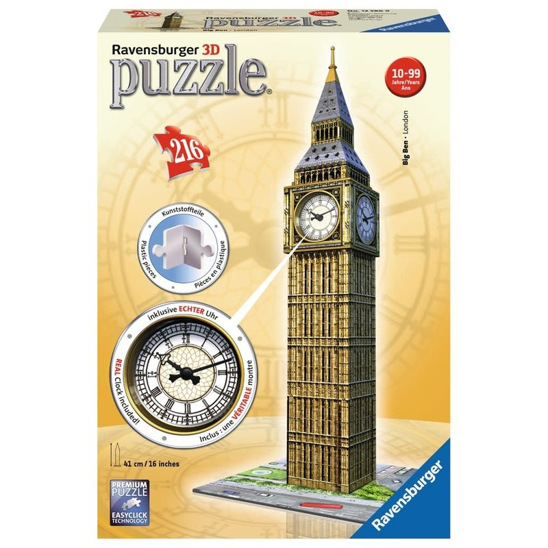 Ravensburger Ravensburger Puzzle 3D Big Ben With Clock