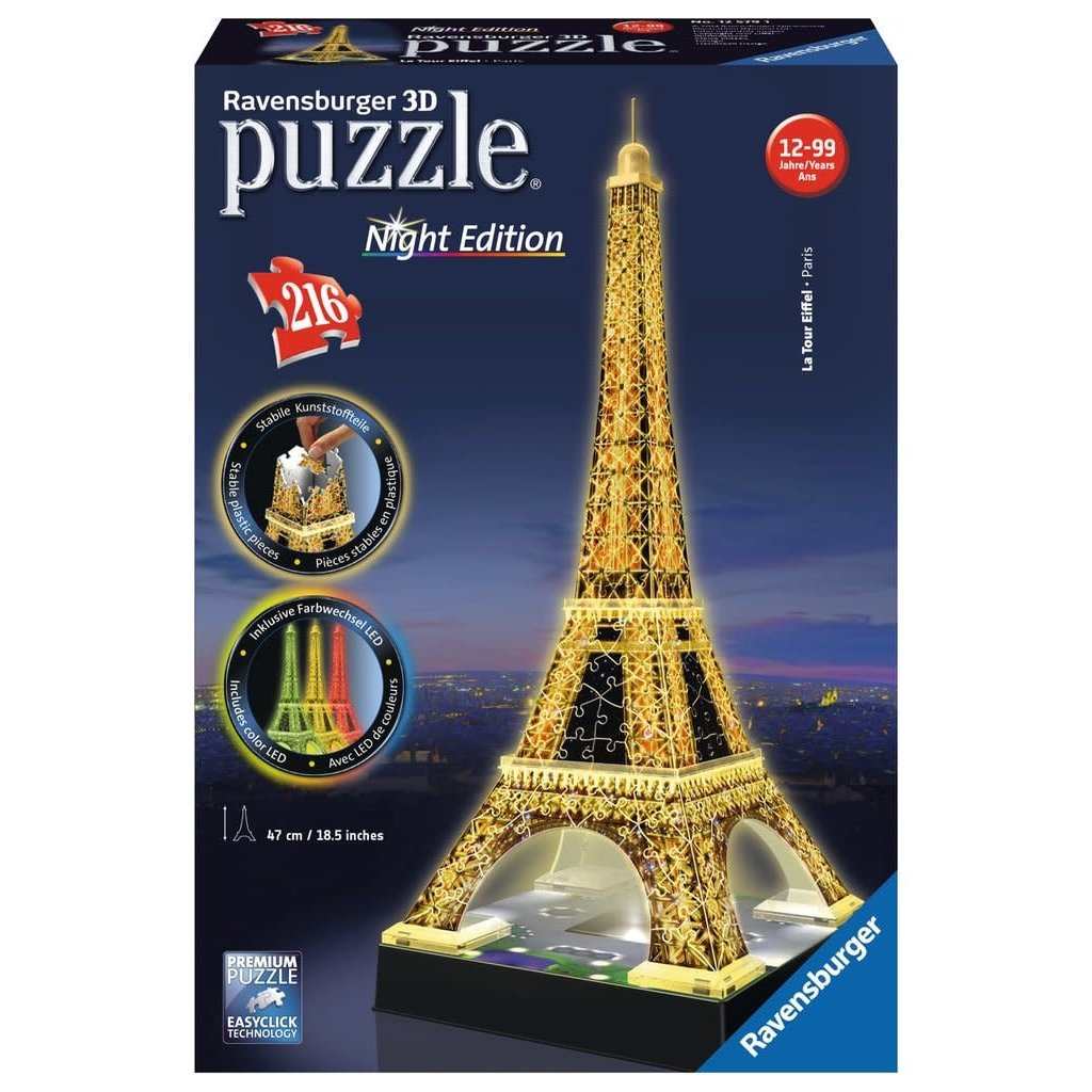 Ravensburger Puzzle 3D Eiffel Tower Night