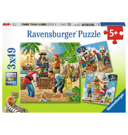Ravensburger Ravensburger Puzzle 3x49pc Adventure on the High Seas
