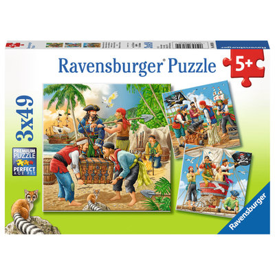 Ravensburger Ravensburger Puzzle 3x49pc Adventure on the High Seas