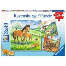 Ravensburger Ravensburger Puzzle 3x49pc Cuddle Time