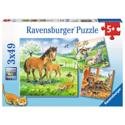 Ravensburger Ravensburger Puzzle 3x49pc Cuddle Time