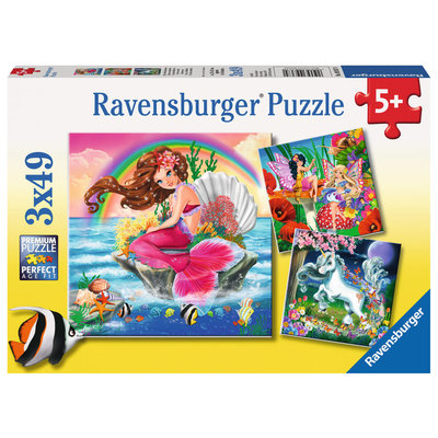 Ravensburger Ravensburger Puzzle 3X49pc Fantasy Friends