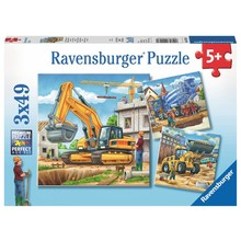 Ravensburger Ravensburger Puzzle 3x49pc Large Construction Vehicles