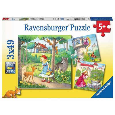 Ravensburger Ravensburger Puzzle 3x49pc Rapunzel, Red Riding, Frog King