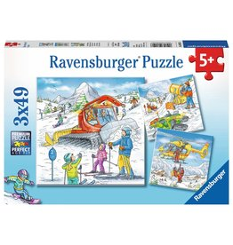 Ravensburger Ravensburger Puzzle 3x49pc Let's Go Skiing!