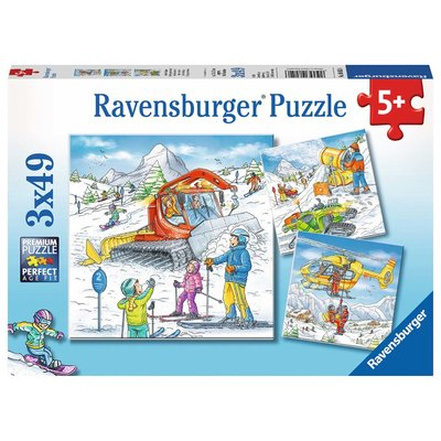 Ravensburger Ravensburger Puzzle 3x49pc Let's Go Skiing!