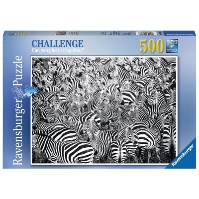 Ravensburger Ravensburger Puzzle 500pc Challenge Zebras