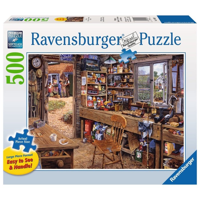 Ravensburger Ravensburger Puzzle 500pc Large Format Dad's Shed